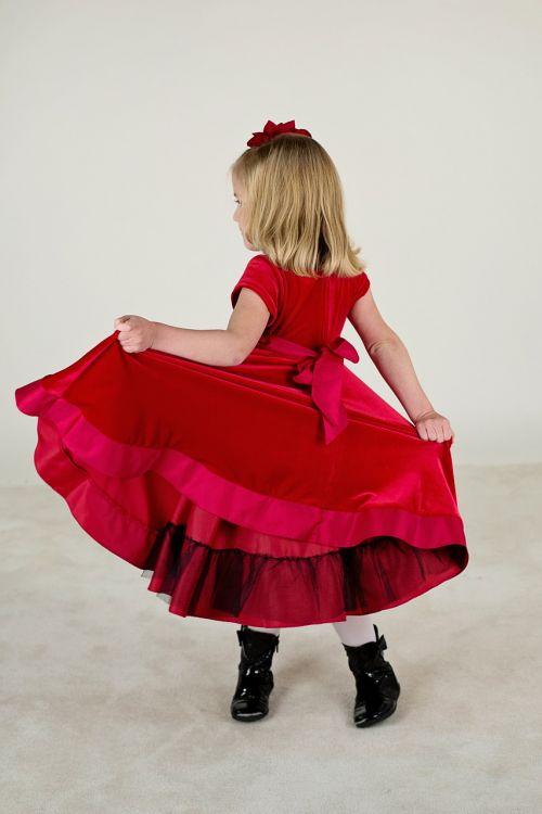 little girl red dress cute