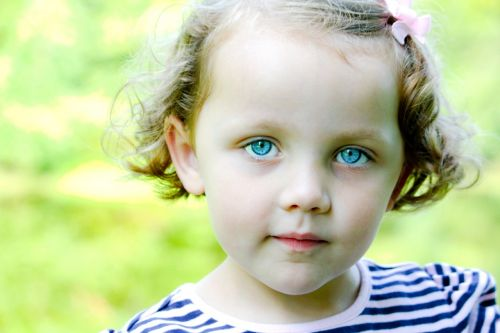 little girl blue eyes child