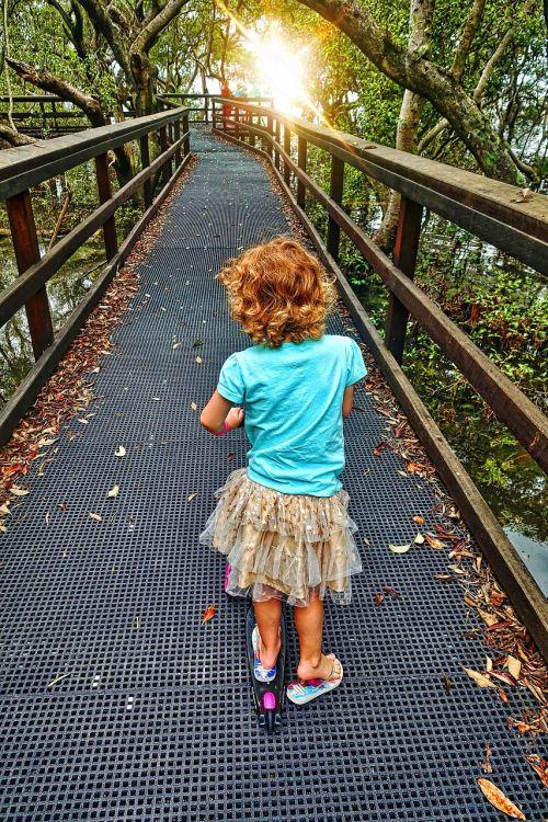 little girl walking childhood