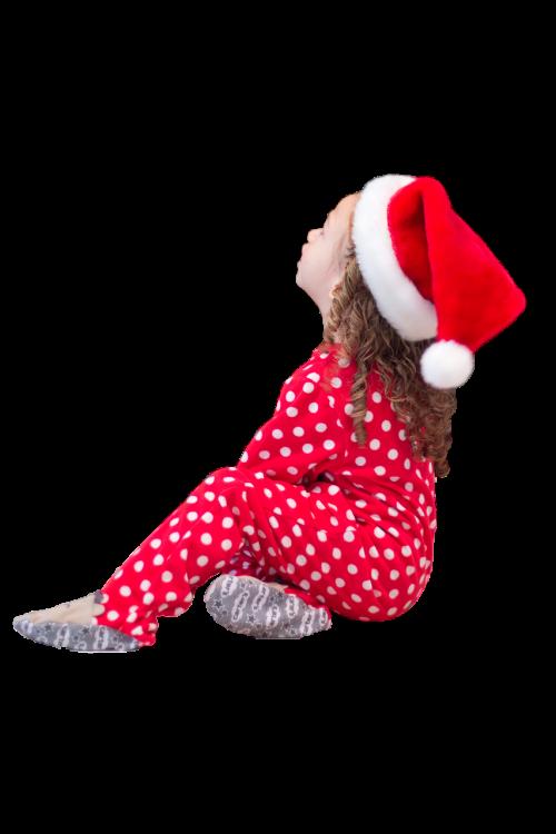 little girl santa hat christmas