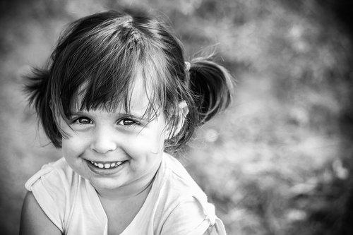little girl  smile  eyes