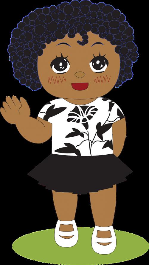 little girl girl african