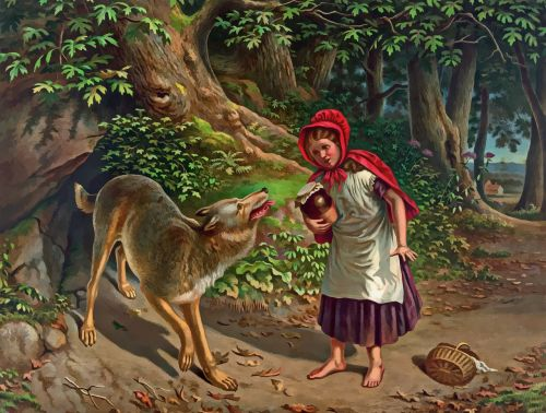 little red riding hood red little
