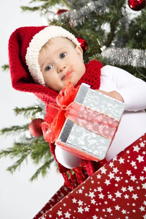 Little Santa With Present