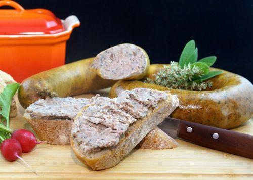 liver sausage sausage food