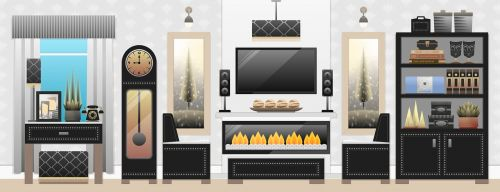 living room furniture interior
