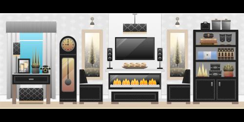 living room room interior