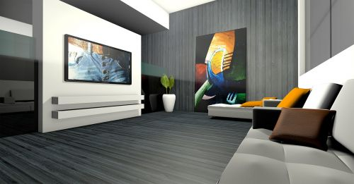 living room spatial apartment