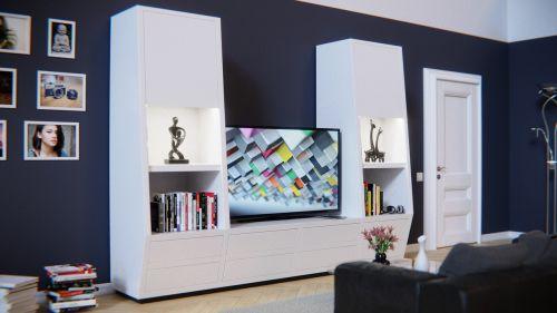 living wall furniture shelf