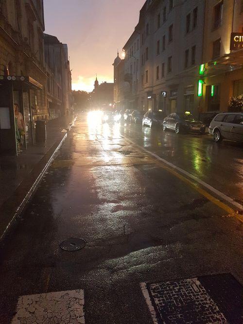 Ljubljana / Slovenia In Rain