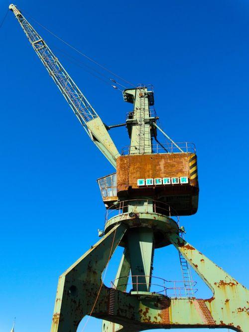 load crane harbour crane crane
