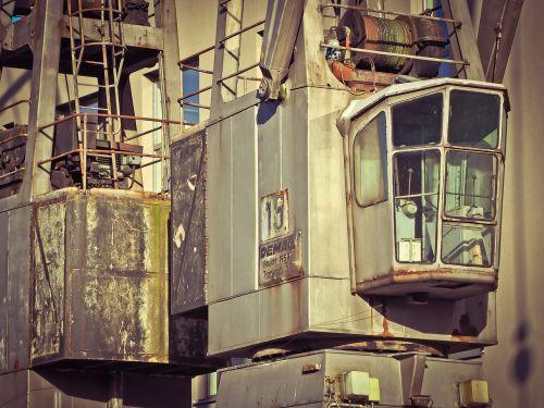loading crane crane port