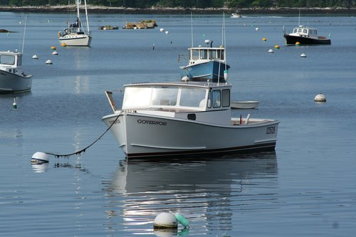 lobster boat  fishing  boothbay harbor