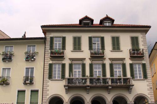 Locarno,architektūra,arcade,architektūrinis stilius,Viduržemio jūros,Ticino,Šveicarija