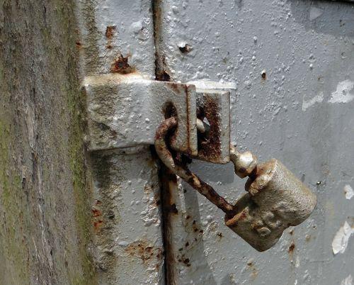 lock padlock old