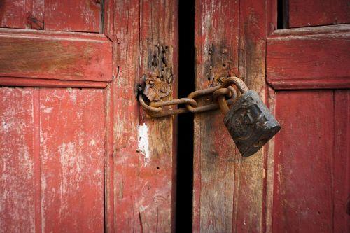 lock old door