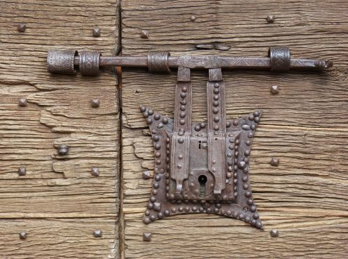 lock wrought iron door