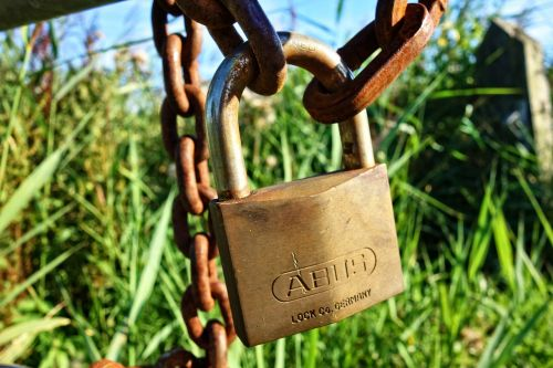lock padlock chain