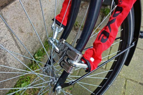 lock bicycle lock wheel