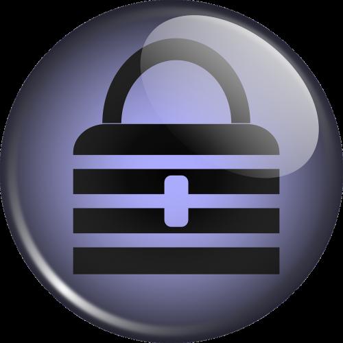 lock purple button