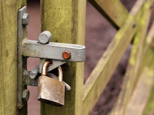 locked gate padlock