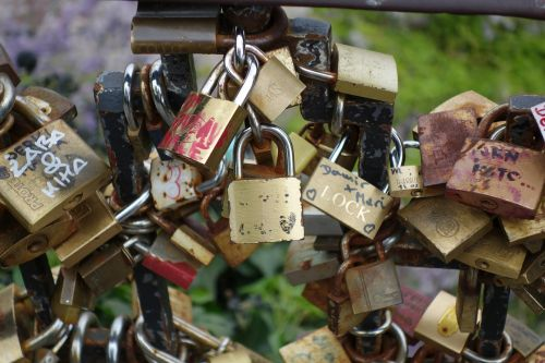 locked love padlock