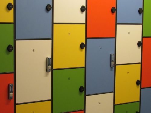 locker storage colorful