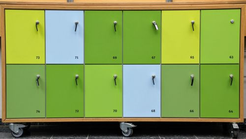 locker closing compartments waste tray read