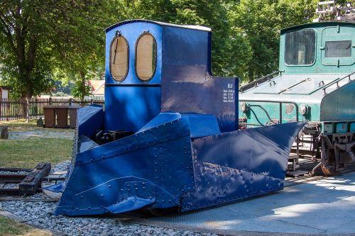 locomotive loco snow plough