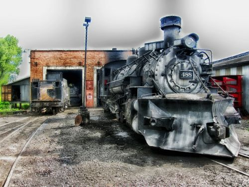 locomotive train steam engine