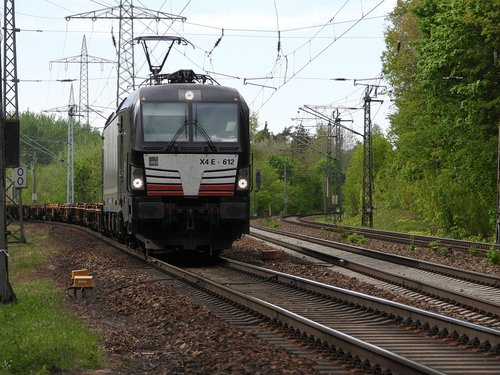 locomotive  freight train  track