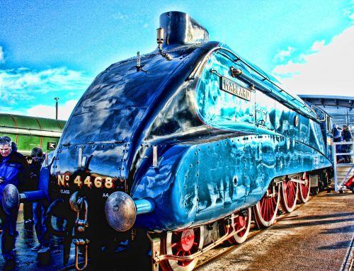 lokomotyvas,meletas,variklis,garai,greitis,pasaulio rekordas,shildon,mėlynas,geležinkeliai,platforma,traukinys,stotis,vintage,plienas