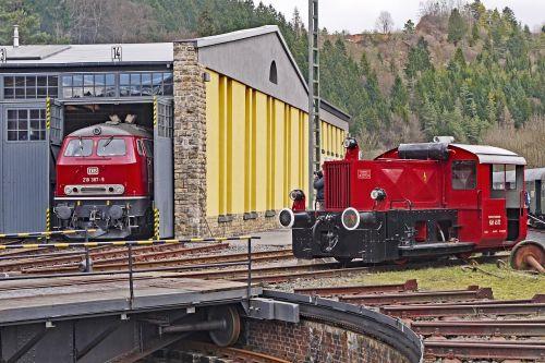locomotive shed hub pit