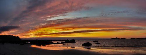lofoten sunset norwegian sea