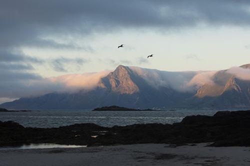 lofoten beach clouds