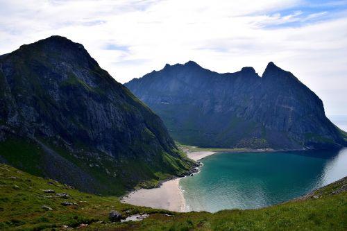 lofoten mountain peaks scandinavia