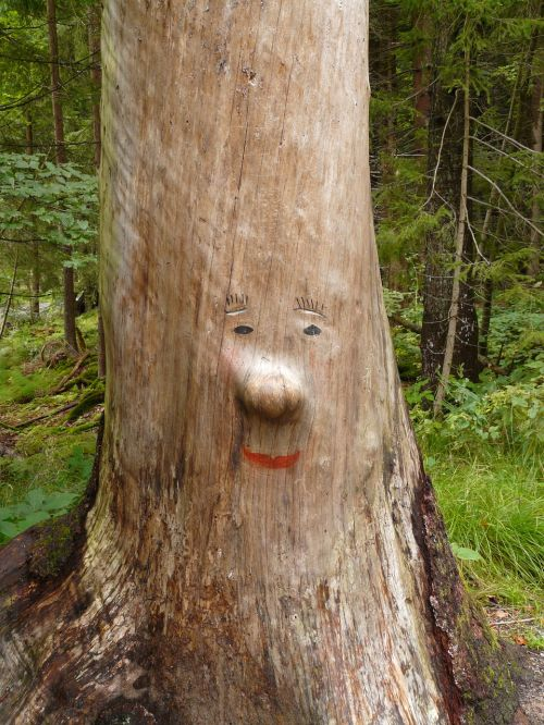 log face carving