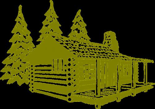 log cabin cabin rustic