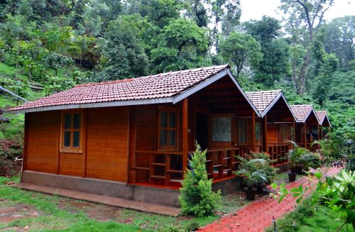 log huts wood cabin homestay