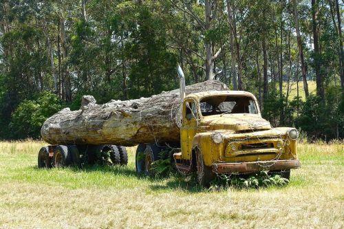 log truck wreck logging