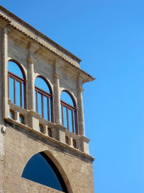 loggia window facade