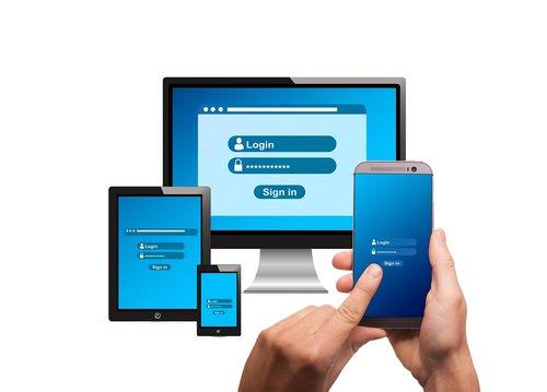 login  monitor  smartphone
