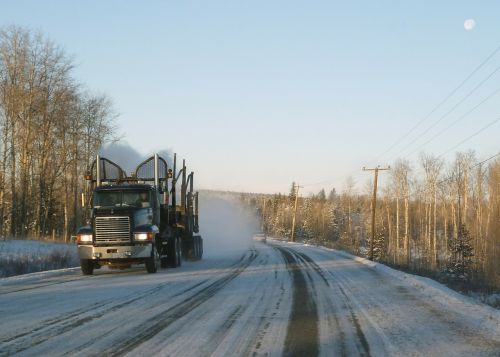 logistics logging truck