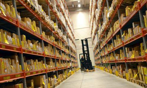 logistics hall shelf