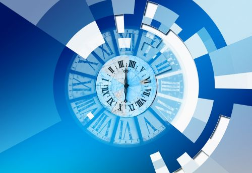 logo concept time