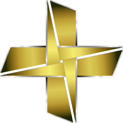 logo cross golden