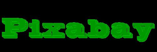 logo pixabay green