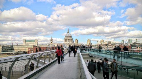london millennium bridge thames