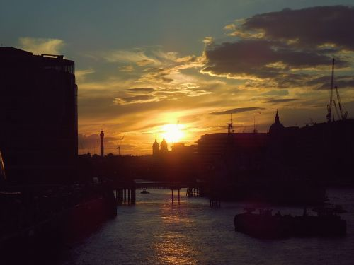 london sunset city