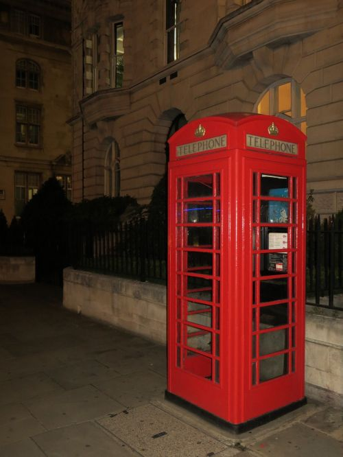 london phone booth red